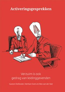 boek cover rood activeringsgesprekken verzuim is ook gedrag van leidinggevenden