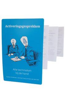 vouwkaart blauw activeringsgesprekken verzuim is ook gedrag van leidinggevenden